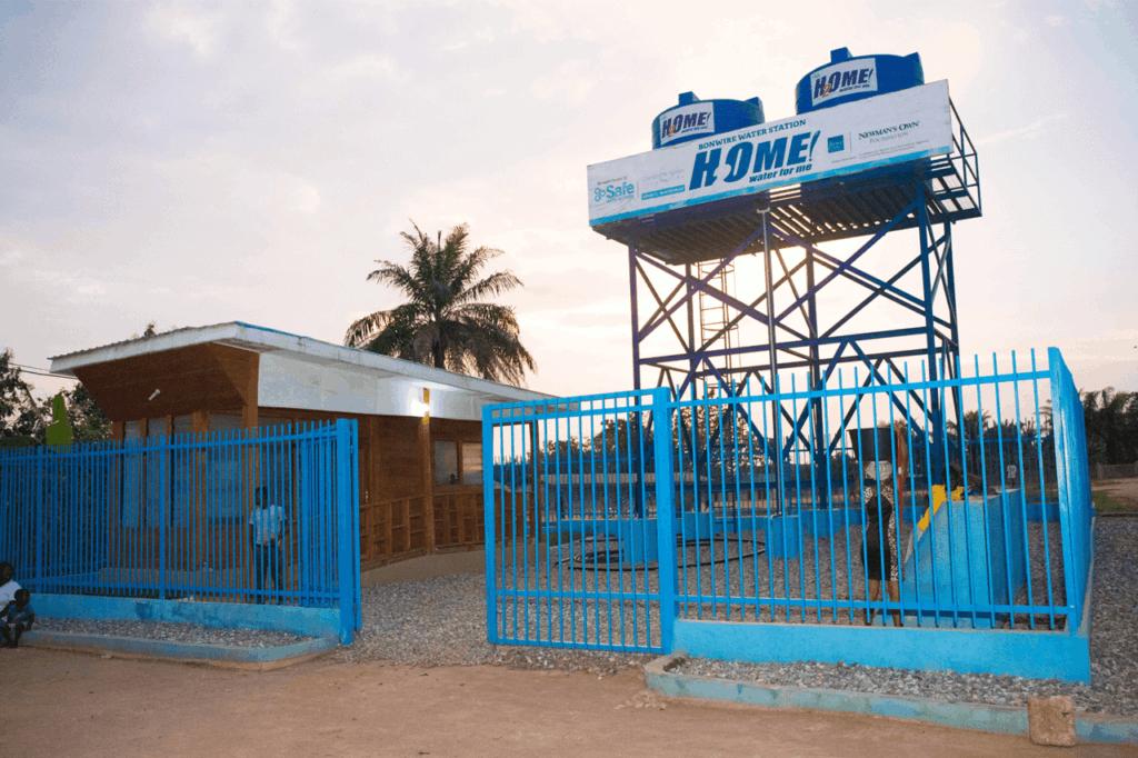 Water station in Ghana
