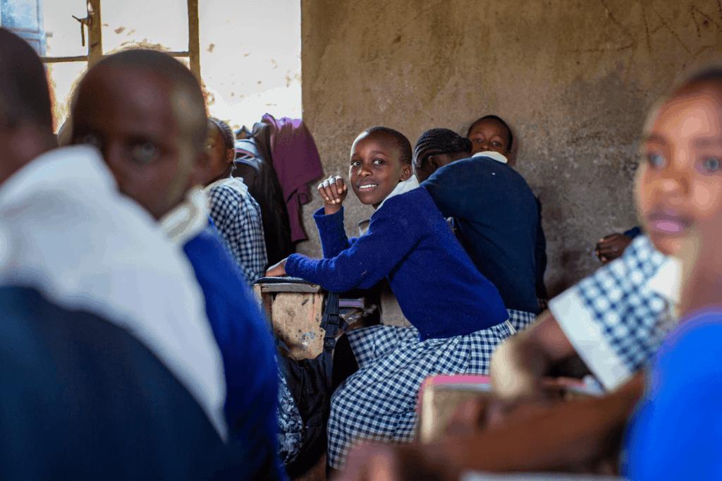 Children in classroom in Kenya.